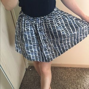 Kate Spade Saturday Navy Circle Skirt